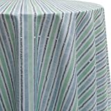 Ultimate Textile Sea Stripes 60-Inch Round Tablecloth For Sale
