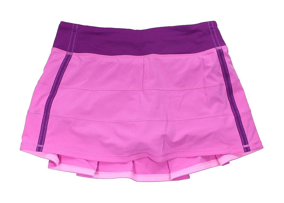 Lululemon rosa limonada Regal morado falda de tenis de ritmo Rival ...
