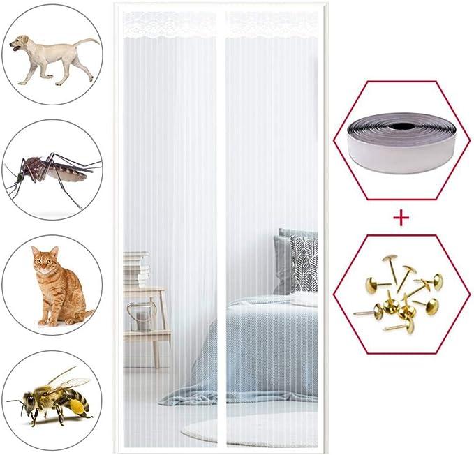 Insektenschutz Fliegengitter Balkont/ür f/ür Balkont/ür Wohnzimmer Terrassent/ür Schwarz GOUDU Magnet Fliegengitter T/ür 85x220cm Easy Install