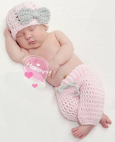 Bebé recién nacido fotografía apoyos niño Niña Gorro de Crochet para  adulto 4b6540eed65