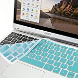 """GMYLE Turquoise blue Silicon Keyboard Cover for Acer 11.6"""" Chromebook C720 C720P C740 (US Layout)"""