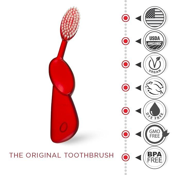 Radio Original derecho mano cepillo de dientes, pack de 3: Amazon.es: Salud y cuidado personal