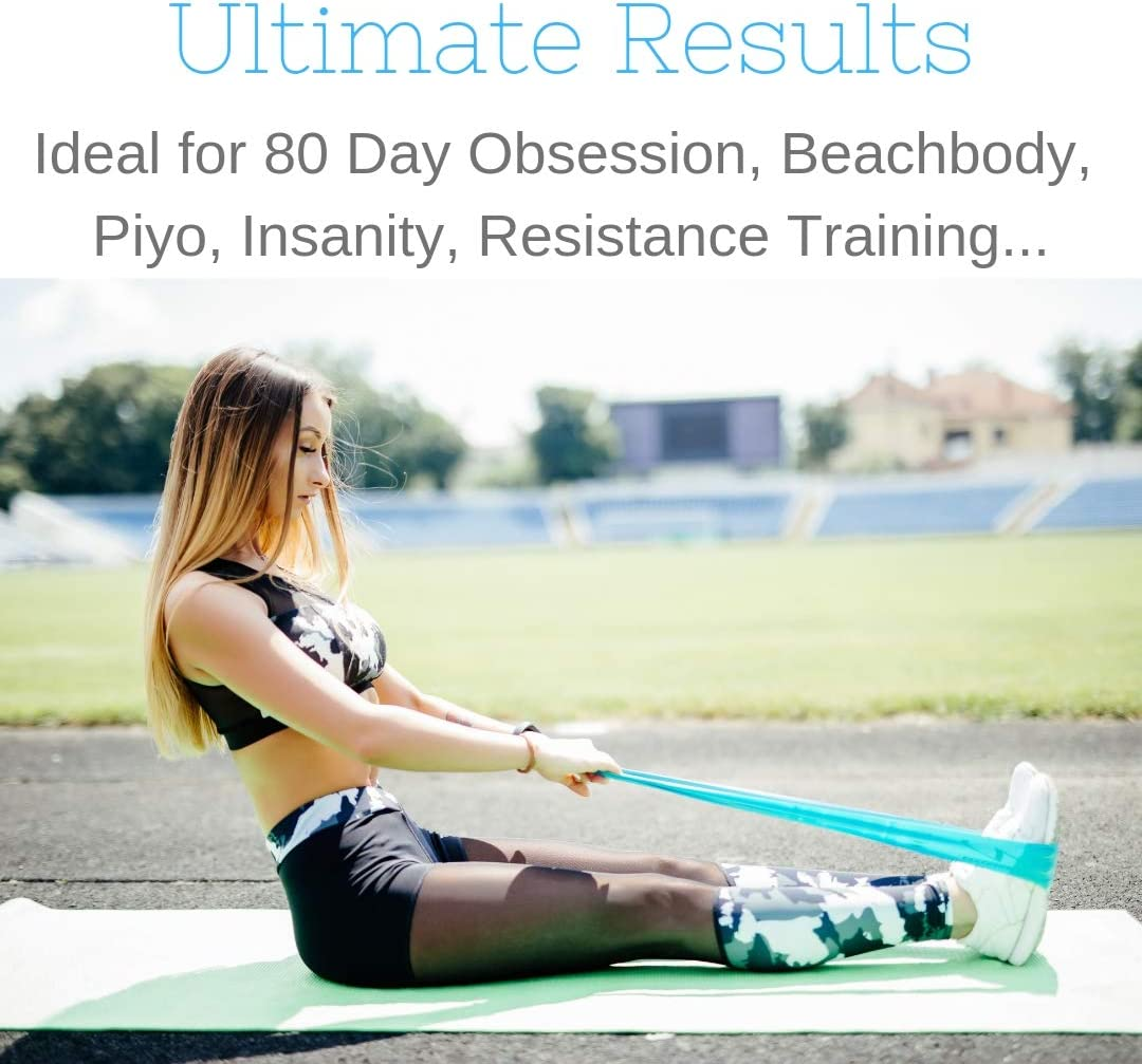 Core Sliders 12 inch SFIX Resistance Bands Set of 2 Set of 5 Multi-Surface Gliding Discs and Thick Resistance Loops for Beachbody Sliders Fitness