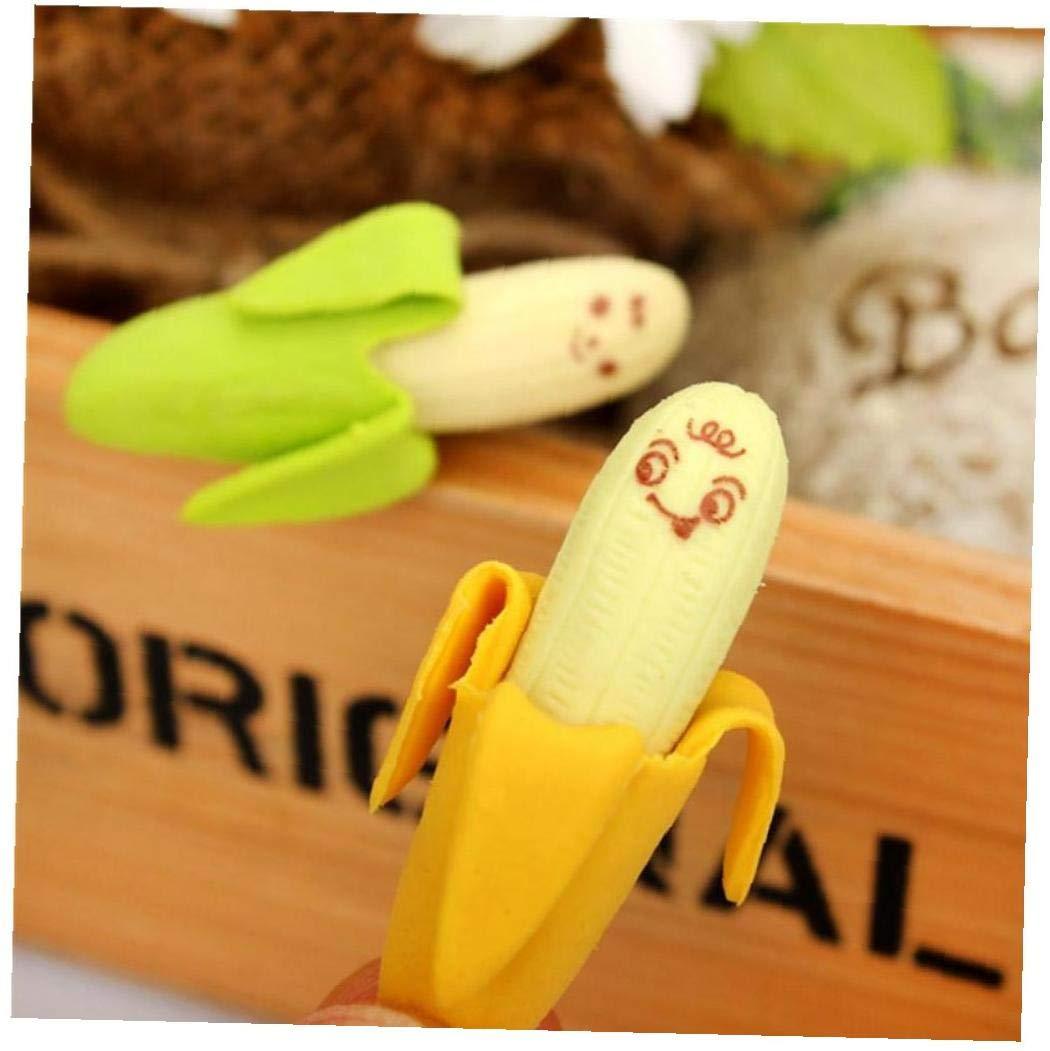 Banana Eraser Sveglio Creativo Della Frutta Di Stile Gomma Eraser Di Matita Della Cancelleria Dellufficio Rifornimenti Di Scuola Del Regalo Del Giocattolo 2 Pezzi