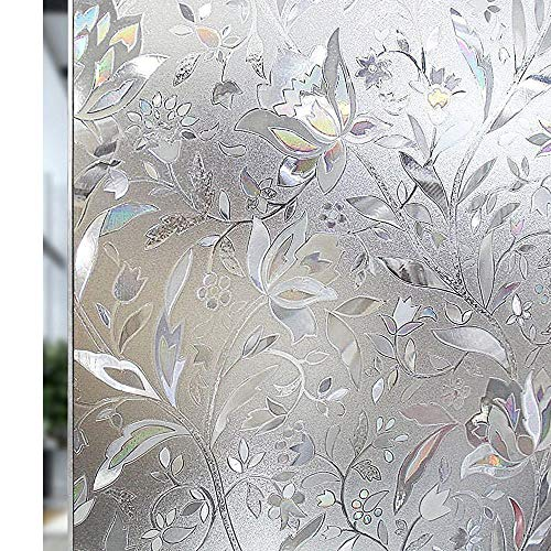 RABBITGOO Premium No Glue 3d Static Decorative Frosted Privacy Window Films for Glass,23.6in. by 78.7in. (60 X 200cm) Upgrade Version for Home Kitchen Office by RABBITGOO (Image #2)