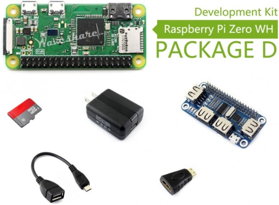 WENDi Raspberry Pi Zero WH Package D, with USB HUB HAT,Micro SD Card 16GB,Cables, etc.: Amazon.es: Electrónica