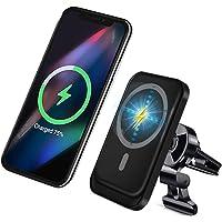 Draadloze Magnetische auto-oplader, 15W snellaad auto telefoonhouder, Air Vent telefoonhouder, compatibel met magsafe…