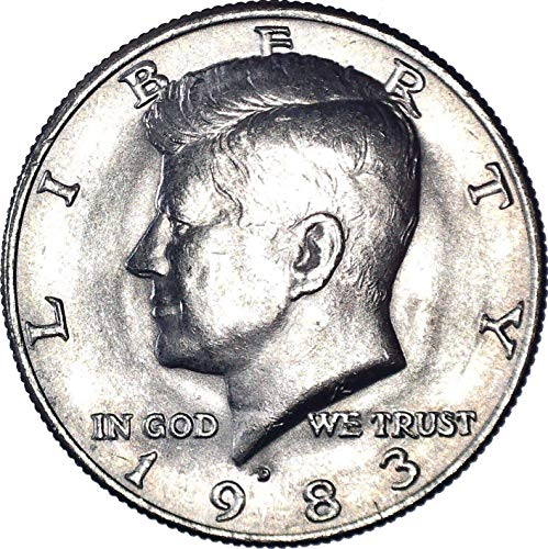1983 D Kennedy Half Dollar 50C About Uncirculated
