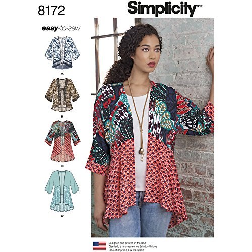 Simplicity Misses' Fashion Kimonos With Length, Fabric And T