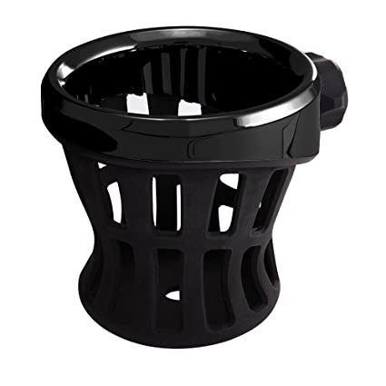 Ciro Black Rubber Drink Holder for Harley - No Mount All Black 50005