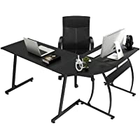 GreenForest L Shaped Gaming Computer Desk 58.1'',L-Shape Corner Gaming Table,Writing Studying PC Laptop Workstation for…