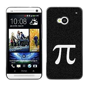 TopCaseStore / la caja del caucho duro de la cubierta de protección de la piel - Pi Mathematics Symbol Ancient Greece Letter - HTC One M7