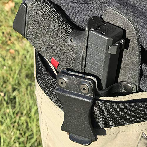 Infused Kydex USA Long Teeth Punisher IWB Hybrid Concealed Carry Holster  (Right-Hand, Ruger LCR  38 Special)