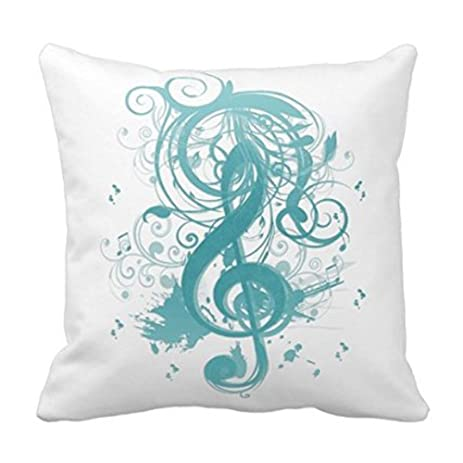 Generic Beautiful Cool Music Notes With Splatter Swirls Throw Pillows Custom Throw Pillow Case Personalized Cushion