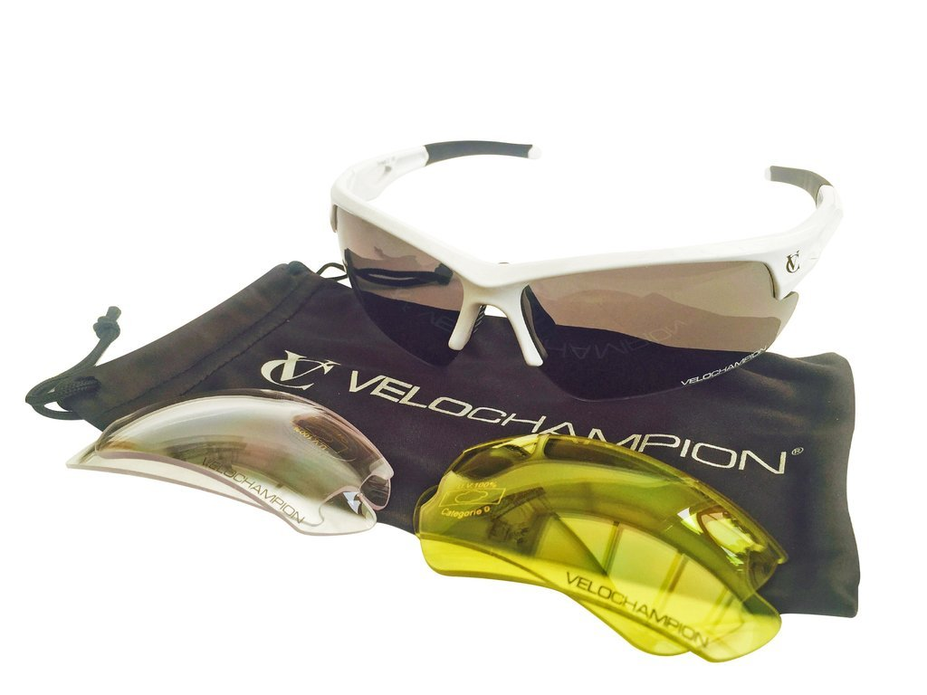 VeloChampion Tornado Sunglasses - White Maxgear Limited 1821