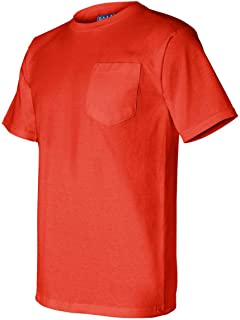 product image for Union Made Short Sleeve T-Shirt with a Pocket, Color: Bright Orange