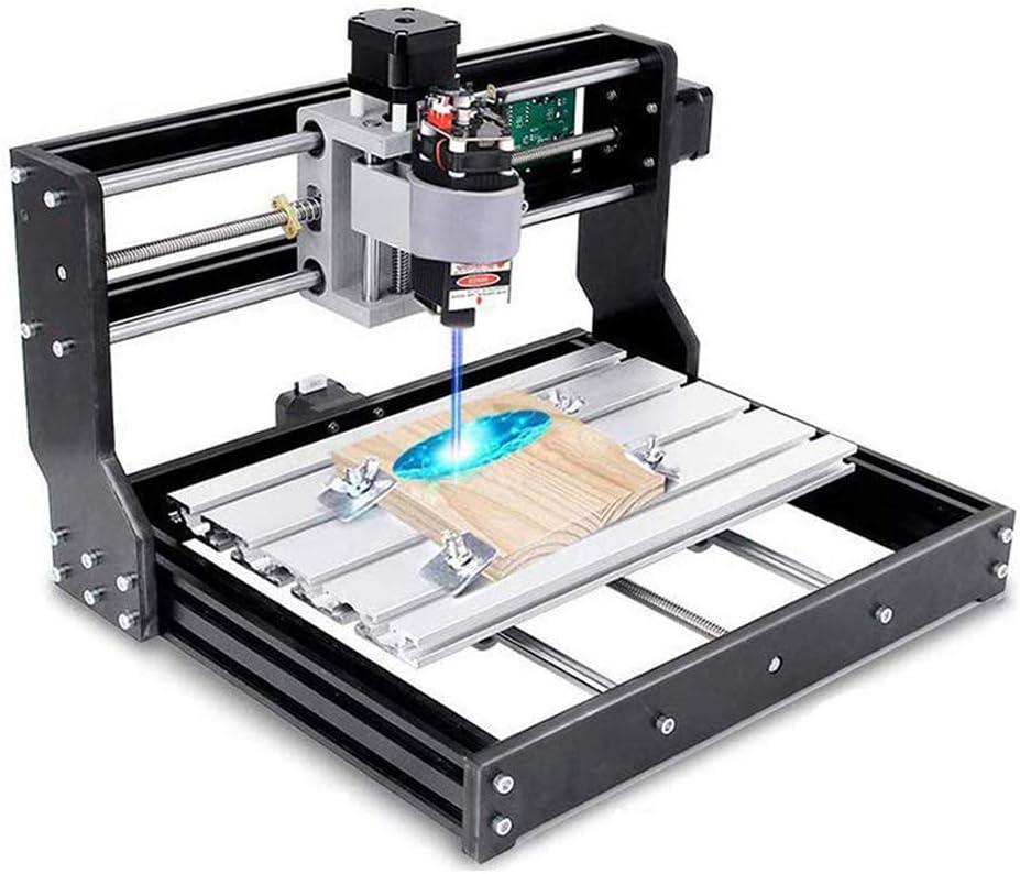 Vogvigo 2 en 1 CNC 3018 Pro Fresadora con Láser de 15000 mW Control GRBL Mini Máquina CNC, kit de Enrutador de Madera de PVC Acrílico PCB de 3 Ejes con Controlador Fuera de Línea, Area 300x180x45 mm