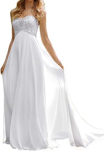 Chiffon Wedding Dress Beach Wedding Dresses Maternity Bridal Dress Beaded  Wedding Gowns