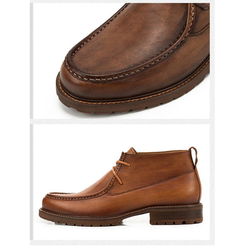 YCGCM Oto ntilde;o Hombres Zapatos Zapatos Zapatos De Cuero Inglaterra Encaje Casual Botas De Herramientas Transpirable be8883