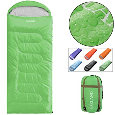 FARLAND Camping Sleeping Bag Adult for 20 Degrees Fahrenheit 4 Season Envelope Mummy Outdoor Lightweight Portable Waterproof Perfect Traveling,Hiking Activities