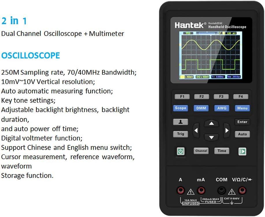 pile au lithium grande capacit/é instrument de test universel 2 en 1 multim/ètre oscilloscope 40 MHz + 2CH + DMM oscilloscope