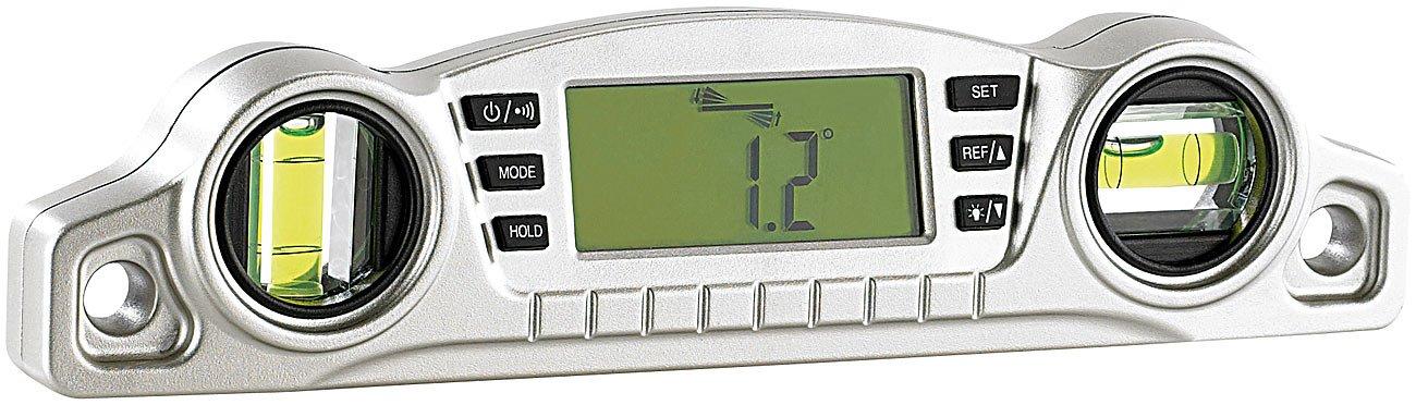 AGT Winkelmesser: Digitale 2in1-Wasserwaage mit vielen Profi-Extras (Neigungsmesser)
