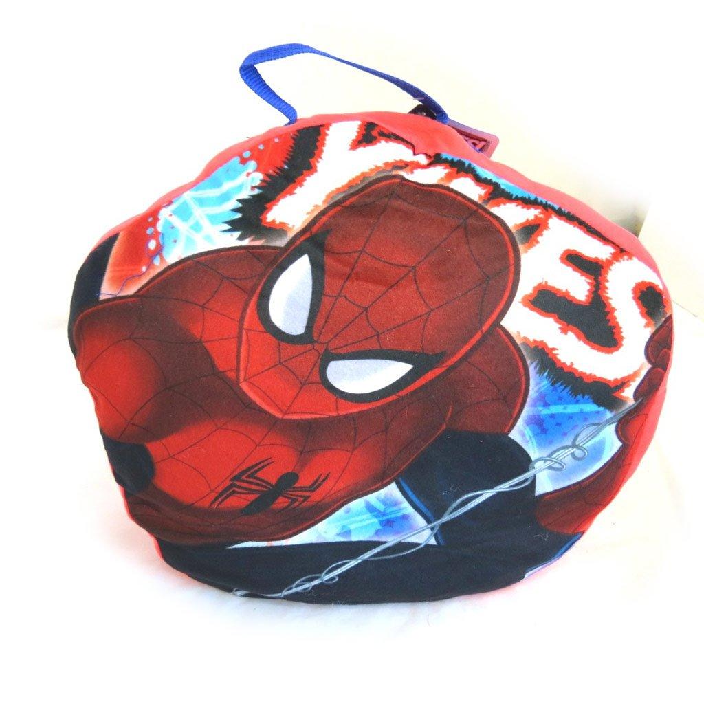Bolsa de dormir + cojín Spidermanazul rojo - 140x70 cm ...