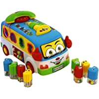 FunBlast City Bus Toy - Bus for Kids with Sound and Light Pull Back Toy Car Bus | Vehicle Toy Bus for Boys Girls Kids.