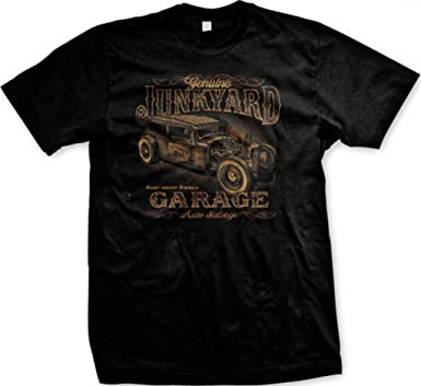 fc0a51864 Genuine Junkyard Garage, Hot Rod Men's T-shirt, Rest Never Sleeps Auto  Salvage
