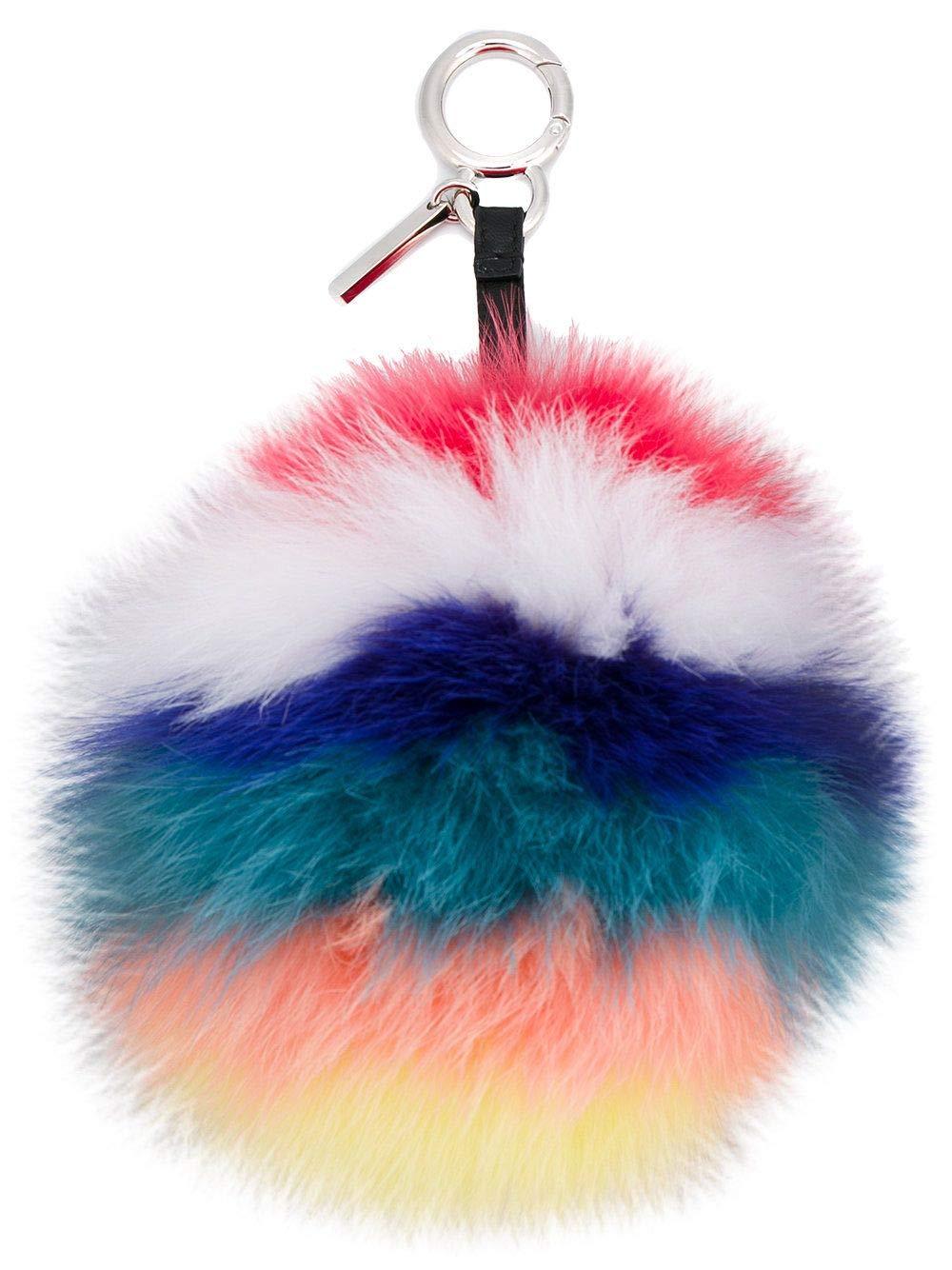 Fendi Women's 7Ar259s45f0r9f-Mcf Multicolor Leather Key Chain