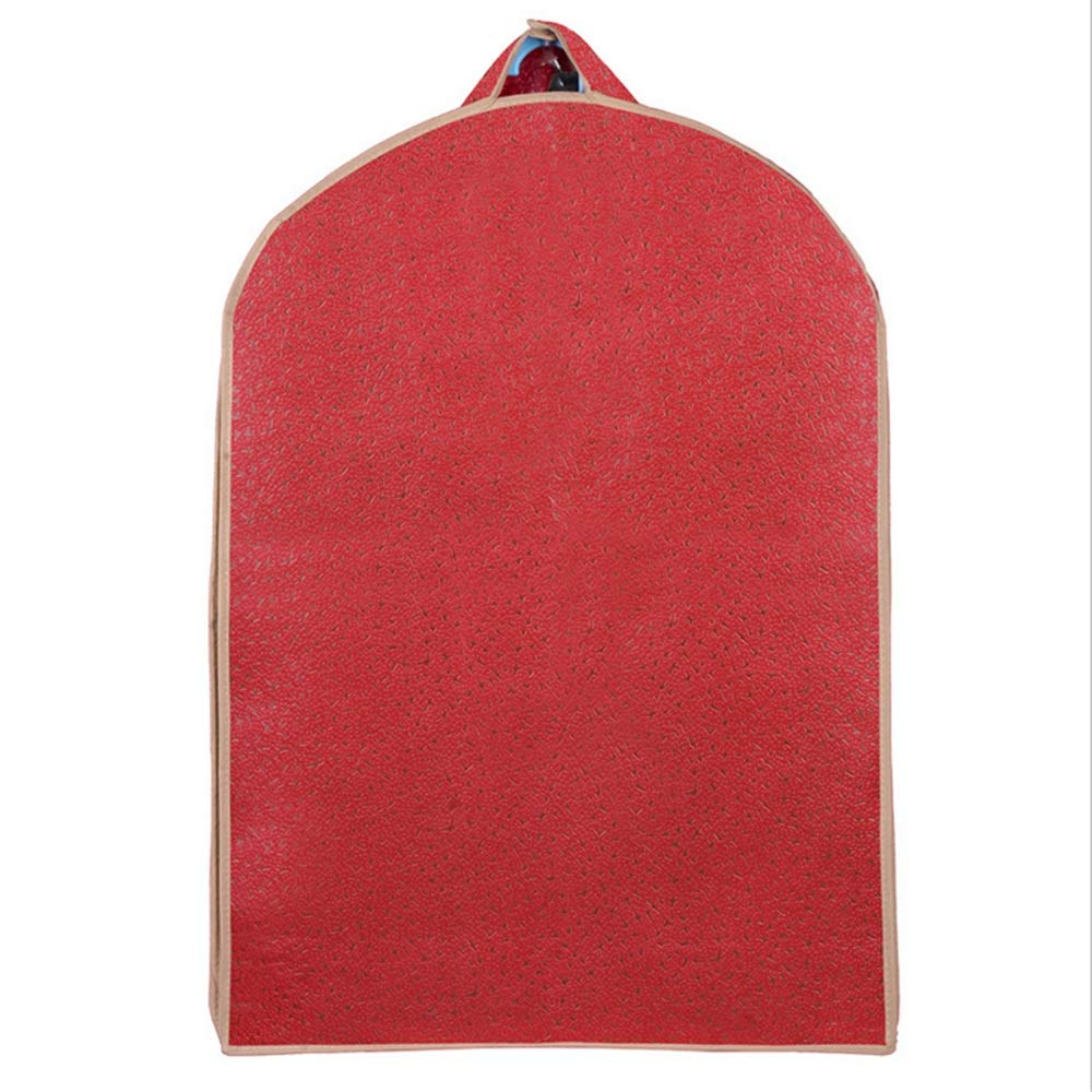 KSUNSEVEN Pack of 3Pcs S/M/L Garment Bag Covers Hanging Storage Bag Set for Suit Carriers Storage Or Suit Dress Outer Coat Travel with Clear Window (Color : Red)