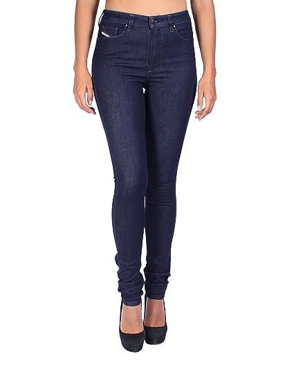 b87bd87424f Diesel Women's Jeans Skinzee-HIGH RX418 - Super Slim Skinny - Blue, W27/