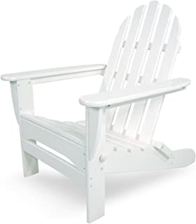 """product image for POLYWOOD AD5030WH Classic Folding Adirondack Chair, 35.00"""" x 29"""" x 35.00"""", White"""