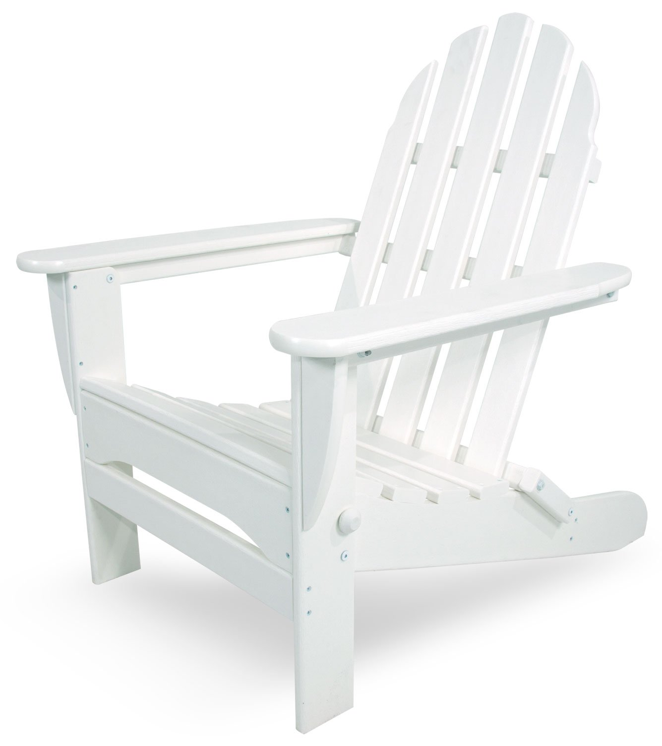 POLYWOOD AD5030WH Classic Folding Adirondack Chair, 35.00'' x 29'' x 35.00'', White by POLYWOOD