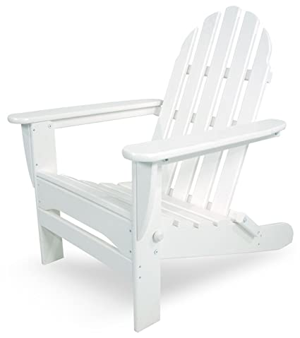 Super Polywood Ad5030Wh Classic Folding Adirondack Chair 35 00 X 29 X 35 00 White Beatyapartments Chair Design Images Beatyapartmentscom