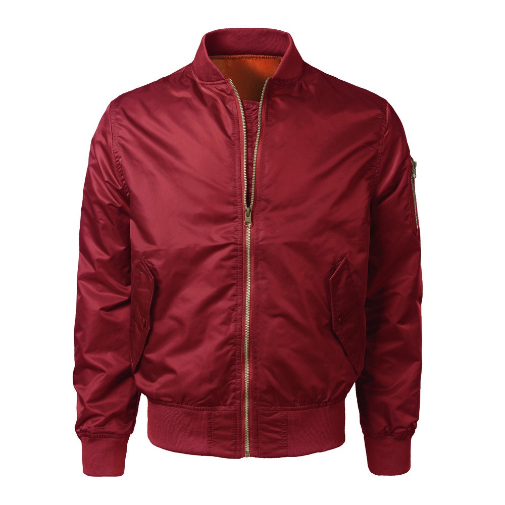 kingf Vintage Harrington Jacket Mens Classic Bomber Jackets Tartan Lining Coat kingfansion Men