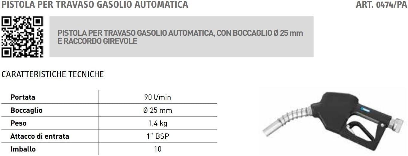 Pistola boquerel para gasoil automática