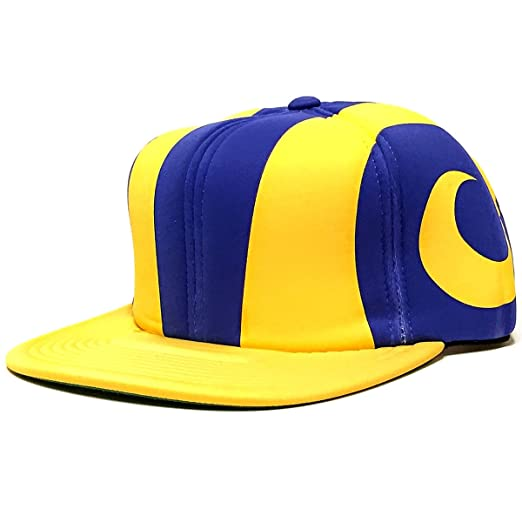 Amazon.com  Los Angeles Rams Foam Helmet Adjustable Snapback Hat ... 75cc2d94a77a