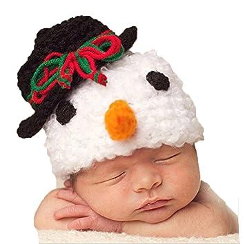 Schwarz Weißer Schneemann Hut Mütze Baby Fotografie Props Häkeln
