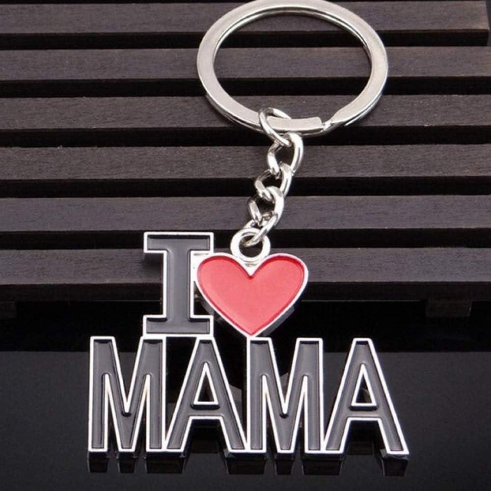 DFGHU Llaveros Amo El Llavero De Papá para Hombres Anchor Heart Charms Llavero De Cuero Me Encanta La Baratija De Mama para Las Mujeres Cumpleaños Regalo del Día del Padre