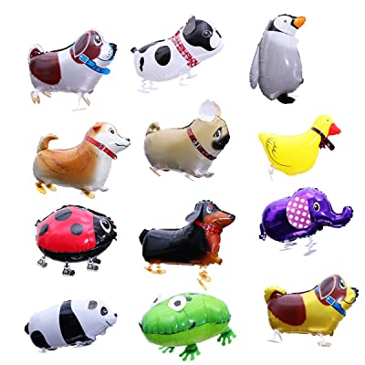 Toyvian Cute Walking Animal Balloons,Pet Dog Balloons Photo Props for Kids Gift Birthday Party Décor 12 pcs, Random Style: Arts, Crafts & Sewing
