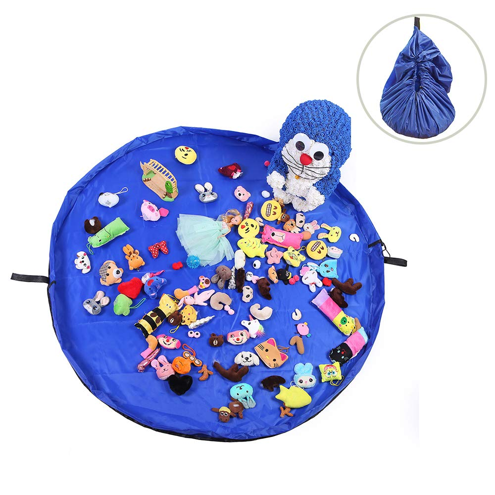 TEAMWIN Bolsa de almacenamiento de juguetes con cordó n Bolsa dejuguetes a prueba de agua Bolsas de almacenamiento de juguetes Children Play Mat Alfombra Organizador