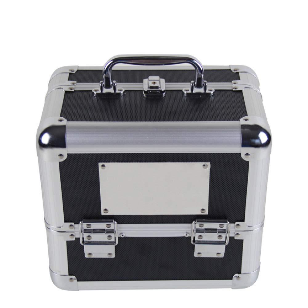 化粧オーガナイザーバッグ メイクアップトレインケースロックと4つのスライディングトレイで丈夫なアルミフレームのアーティストのためのポータブル化粧ケース 化粧品ケース B07PQH7178