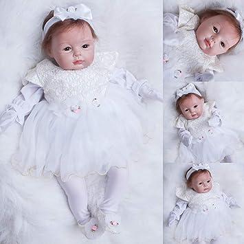 Ziyiui RINATO BABY DOLL 22/'/'//55cm che sembra vera Baby Dolls realistica vinile morbido