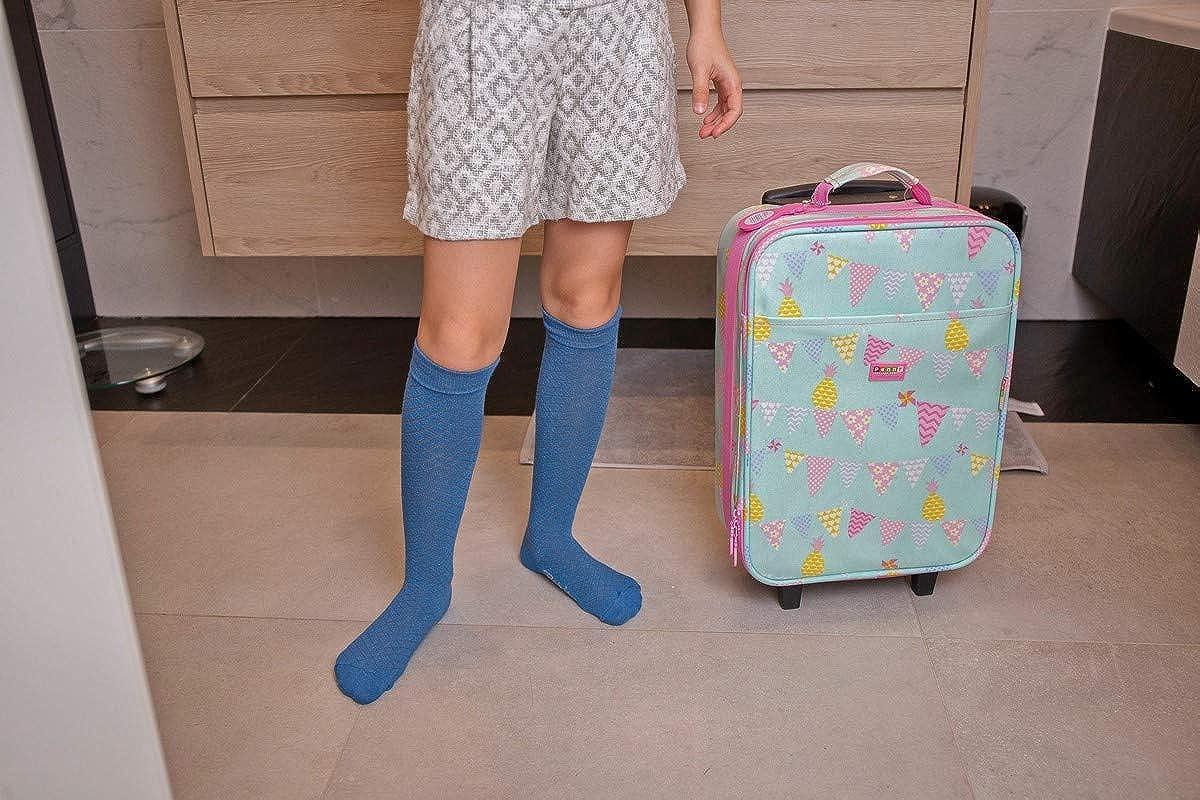 Ragazza Ragazzo Rainbow Socks Gambaletti Traforati di Cotone