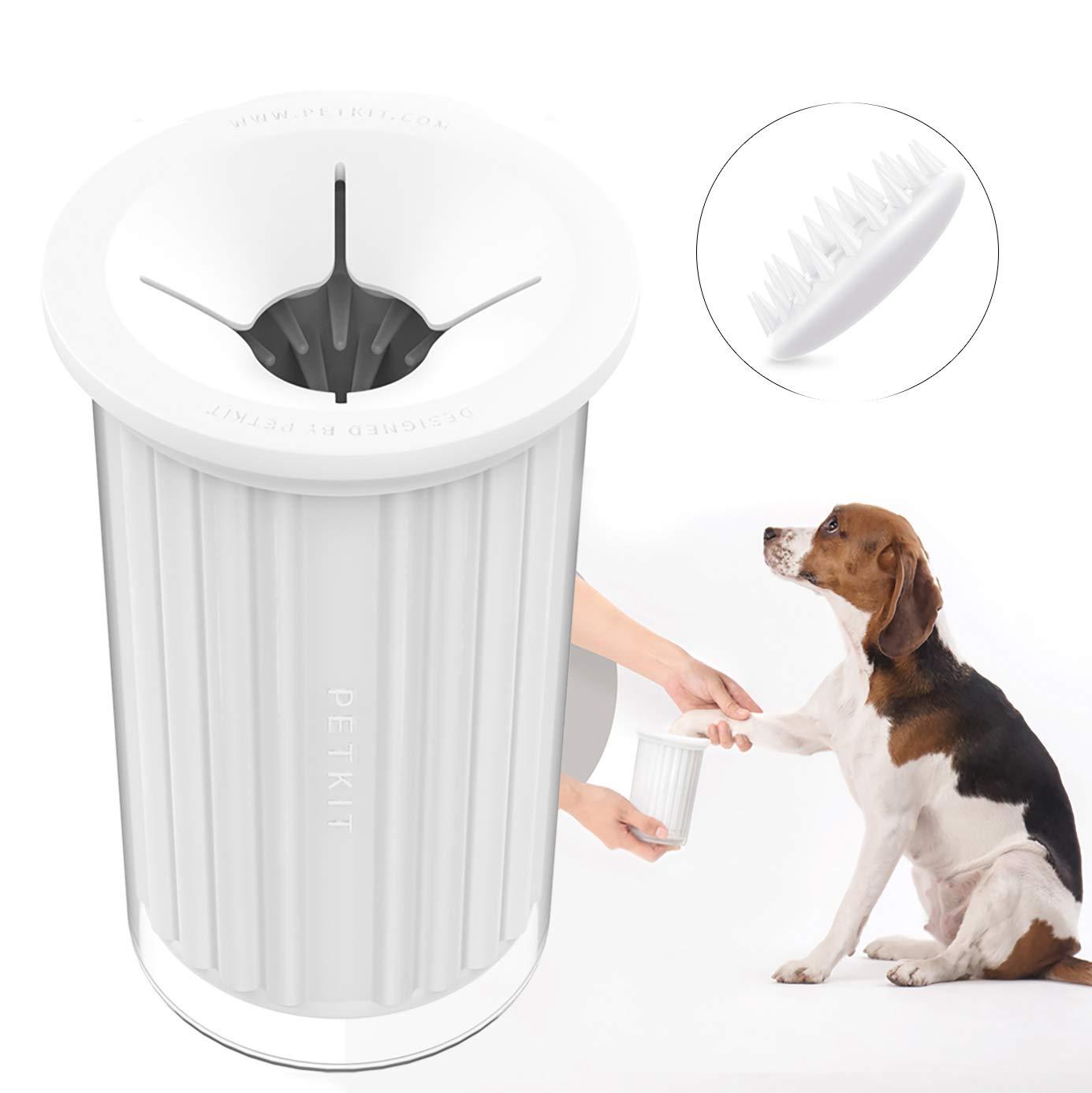 Limpiador de huellas PETKIT para perros, portátil, este increíble limpiador de patas para perros
