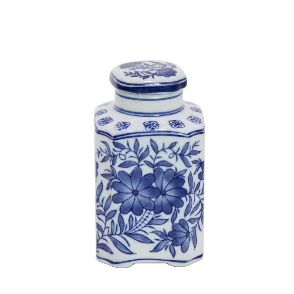 FUYUAN Blue and White Ceramic Jar for Home Decor 581