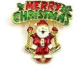 HuaYang Nouveau broche en alliage pour la soirée Noël cadeau de Noël(Pattern A: le père Noël)