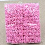 artificial-flowers-rose-Wedding-Decorations-Party-Flower-Bouquet-Solid-DIY-Wreath-Craft-Fake-Foam-Flowers-144pcslot-2CM-Pink
