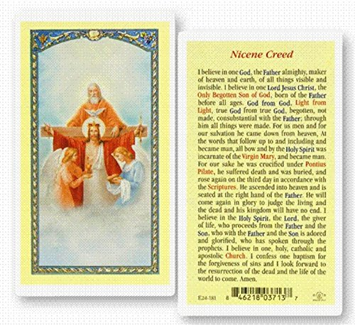 StealStreet SS-Wjh-E24-181 Nicene Creed Clear Holy Cards